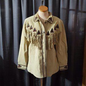 Bob Mackie Western Suede Jacket Size Medium